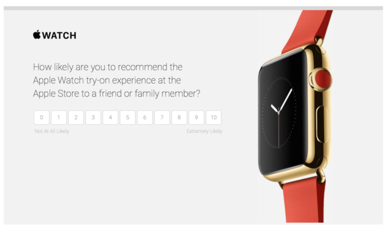 Badanie NPS Apple Watch